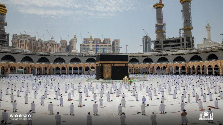 حرم شریف: نماز جمعہ کا منظر