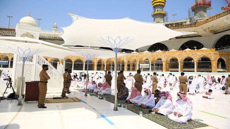 المسجد الحرام میں نماز جمعہ کا منظر