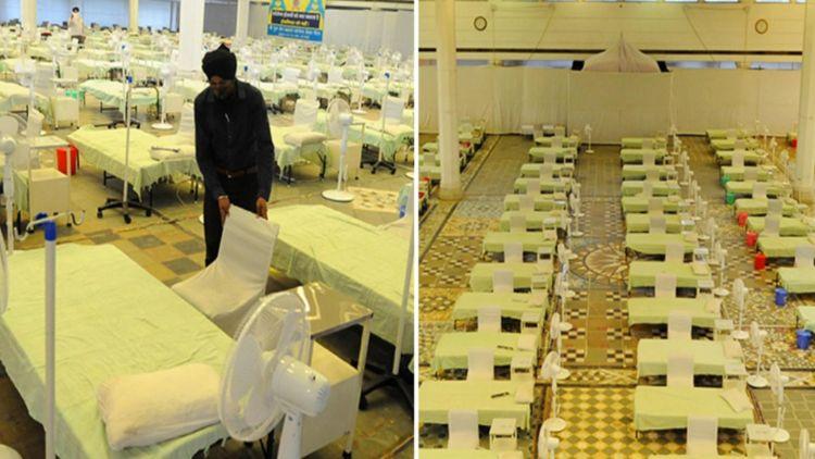 دہلی کے گرودارہ رکاب گنج صاحب میں 250 بیڈ کا کووڈ کیئر سینٹر بنایا ہے