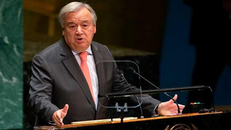 اقوام متحدہ کے سیکریٹری جنرل انتونیو گوتریس