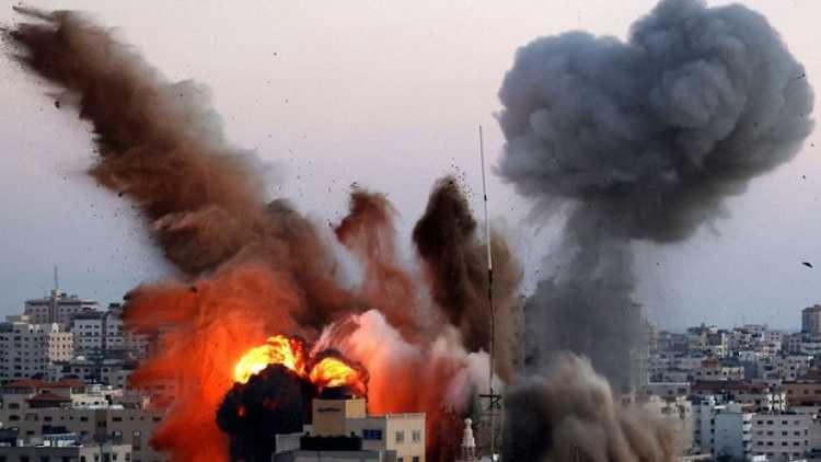 غزہ پر وحشیانہ بمباری