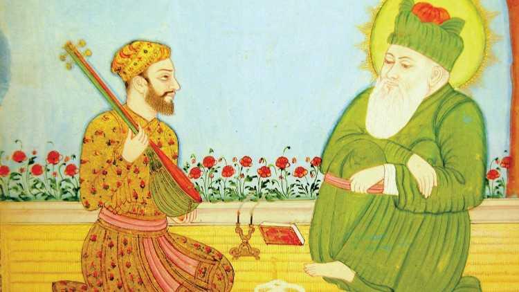 بارگاہ نظام الدین اولیا میں امیرخسرو:ایک تصوراتی تصویر