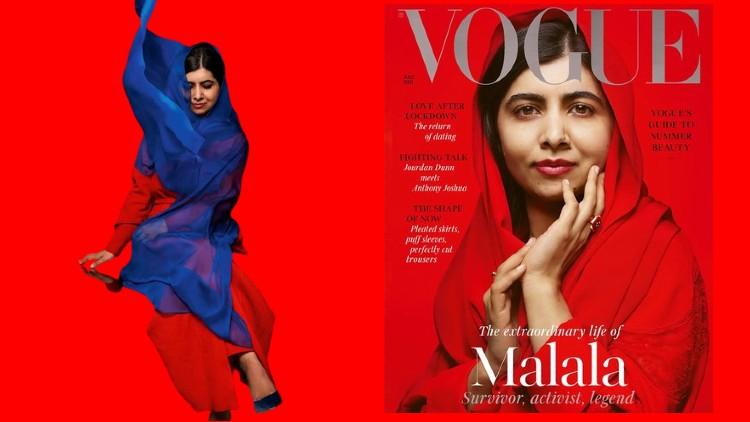 سرورق پر ملالہ