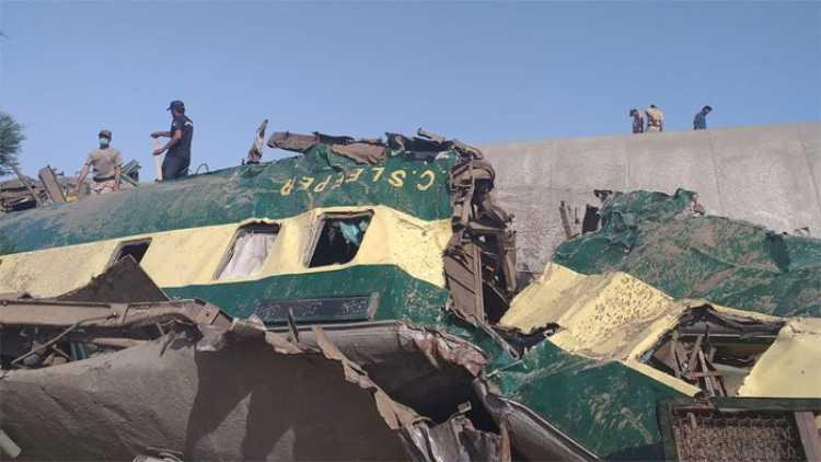 پاکستان ٹرین حادثہ