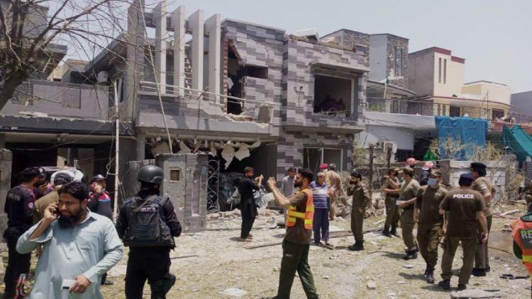 دھماکہ کے بعد کا منظر