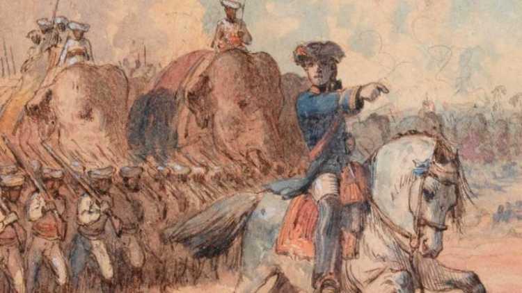 پلاسی کی جنگ کا تصوارتی خاکہ
