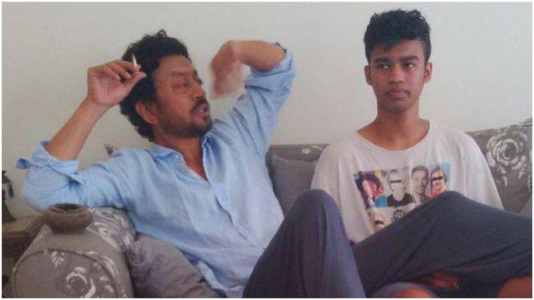عرفان خان اپنے بیٹے بابیل کے ساتھ