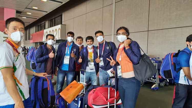 اولمپکس کے لئے ہندوستانی کھلاڑی ٹوکیوپہنچے