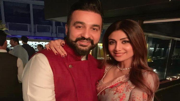 راج  کندرا  اپنی  اہلیہ شلپا  شیٹھی  کے  ساتھ