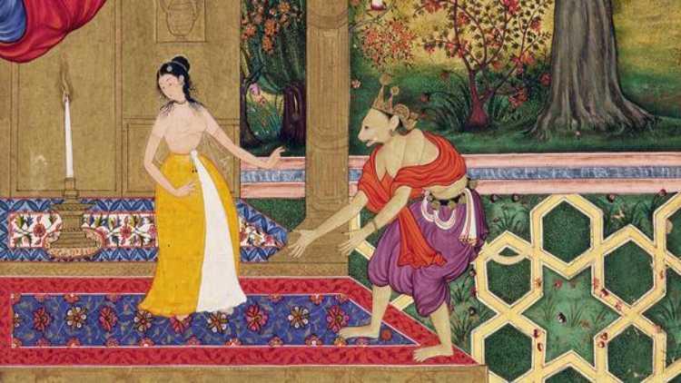 عہداکبری کی فارسی رامائن کی ایک تصویر