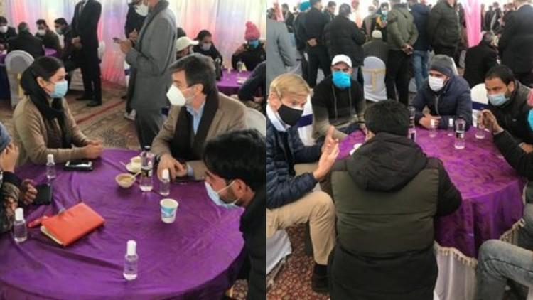 سفارتی وفد عوامی نمائندوں سے ملاقات کے دوران