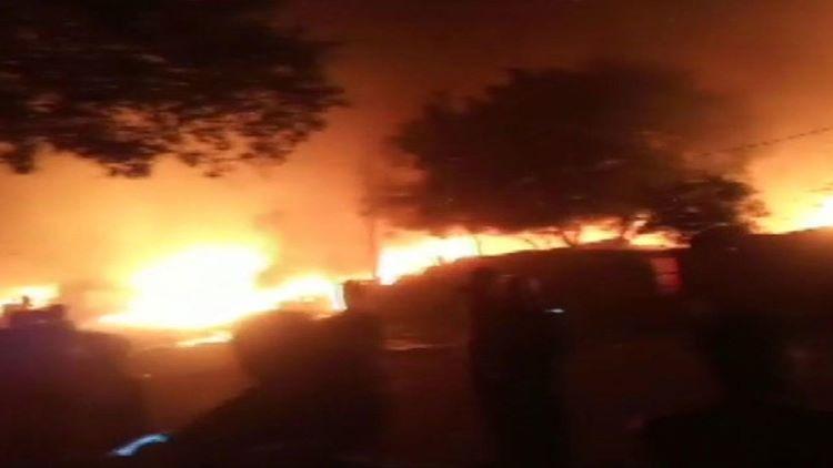 اوکھلا میں آتشزدگی