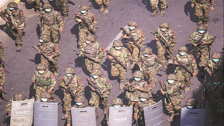 یکم فروری کو ہونے والی فوجی بغاوت کے   بعد مظاہروں اور ہڑتالوں کا سلسلہ جاری ہے
