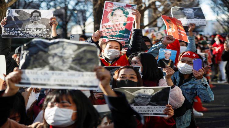 میانمار میں عوامی احتجاج