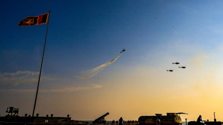 کولمبو کے آسمان پر دکھائے انڈین ایر فورس کے جنگی جہازوں نے جلوے